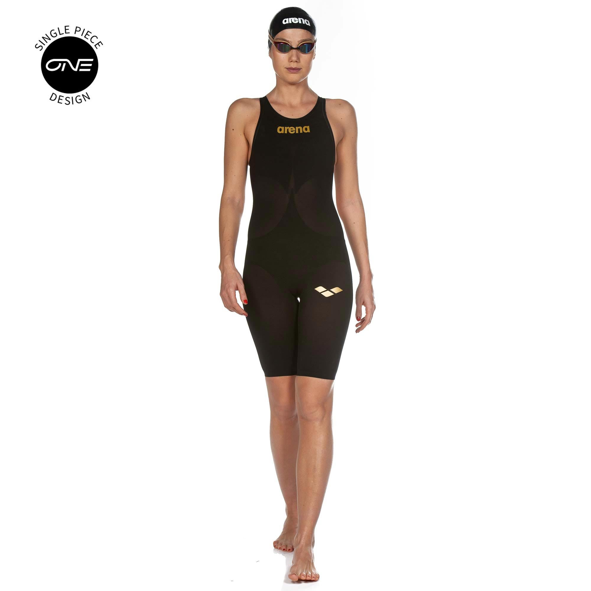 7d4384ef666 Arena Womens Powerskin Carbon Air 2 Open Back - Black Gold - Tri To Swim