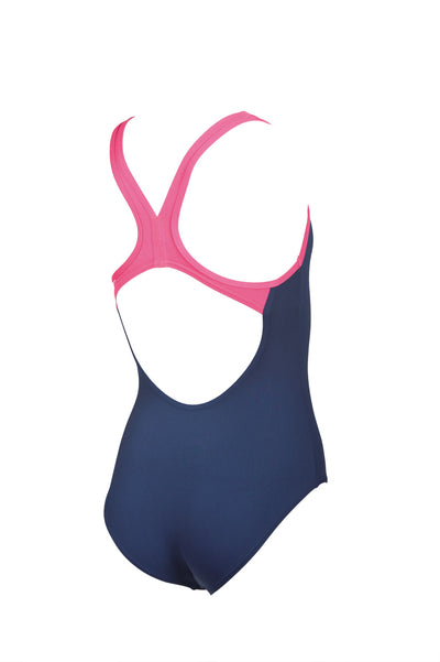 Arena Girls Big Logo Swim Pro Back One Piece - Navy Aphrodite