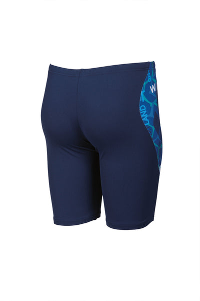 Front view Arena Boys Evolution Jammer - Navy Pix Blue