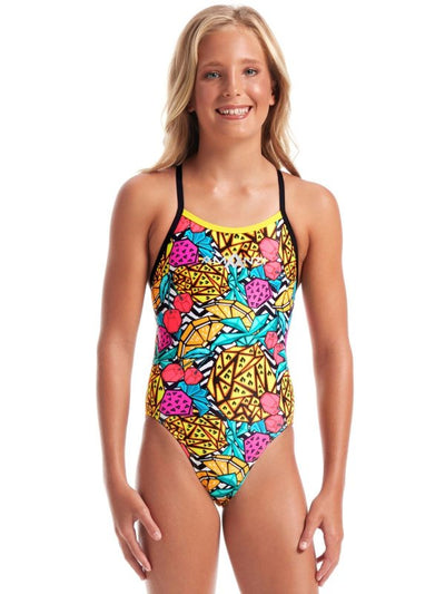 Amanzi Girls One Piece - Pineapple Punch