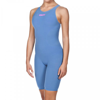 Arena Womens Powerskin R-Evo ONE Open Back - Blue Powder Pink