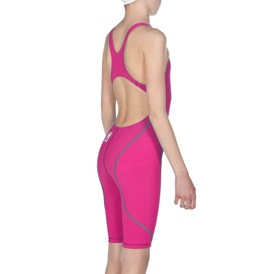 Arena Girls Powerskin ST Open Back - Fuchsia