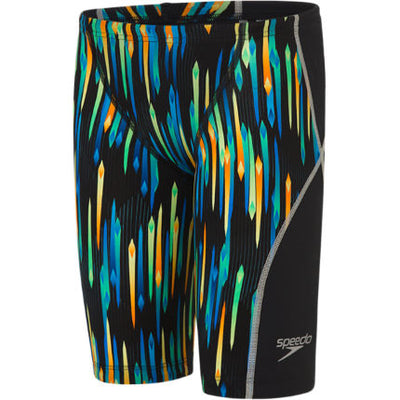 Speedo Boys Junior Lzr Racer X Jammer - Black Chroma Blue Brilliant Blue