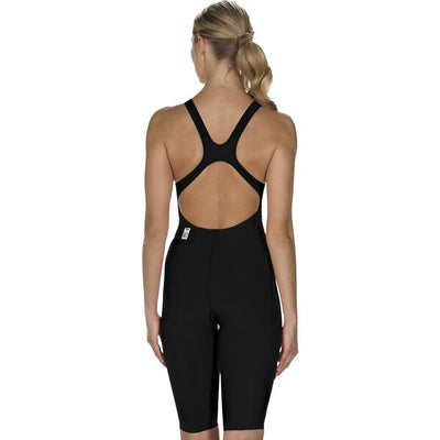 Speedo Womens Lzr Racer Element Open Back - Black White