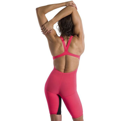 Speedo Womens Fastskin LZR Pure Valor Openback Kneeskin - Psycho Red