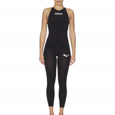 Arena Womens Powerskin R-Evo+ OPEN WATER Full Body CLOSED Back - Black