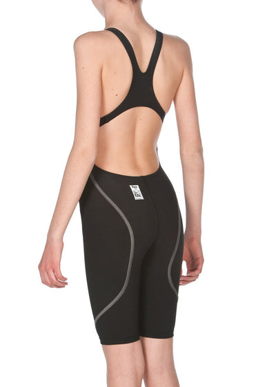 Arena Girls Powerskin ST Open Back - Black
