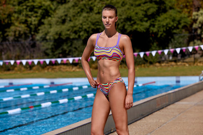 Funkita Ladies Criss Cross Sports Two Piece - Dripping