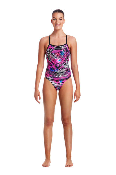 Funkita Ladies Strapped In One Piece - Skull Swim