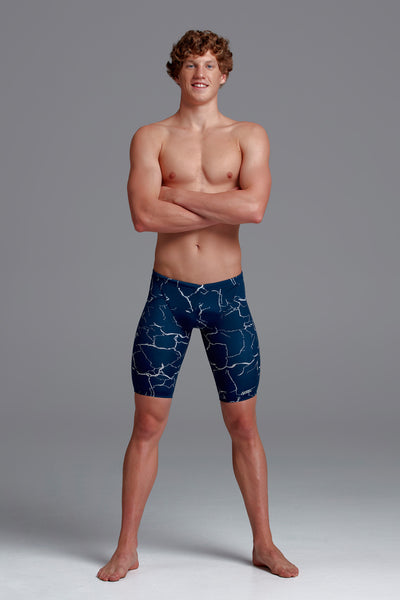 Funky Trunks Mens Training Jammers - Silver Lining