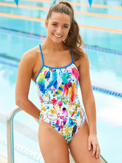 Pool side of Amanzi Womens One Piece - Bohemian Dreams