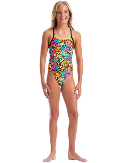 Another view of Amanzi Girls One Piece - Pineapple Punch