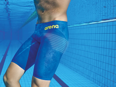 Arena Mens Powerskin Carbon Air 2 Jammer - Electric Blue Fluo Yellow