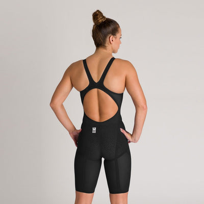 Arena Womens Carbon Glide Open Back - Black Gold