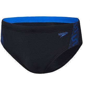 Speedo Mens Monogram Brief - Black Azure
