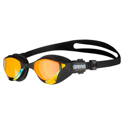 Arena Cobra Tri Swipe Mirror Triathlon Goggles - Yellow Copper Black