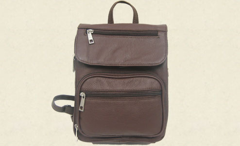 Leather Concealment Backpack (7087)
