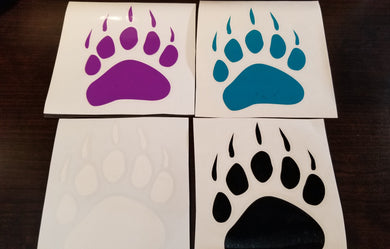Bear Paw Sticker