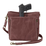 GTM/CZY 98: Distressed Leather Slim X-Body RFID Purse