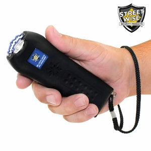 Streetwise Black Jack 21 Million Volt Black Stun Gun + Flashlight w/ Alarm
