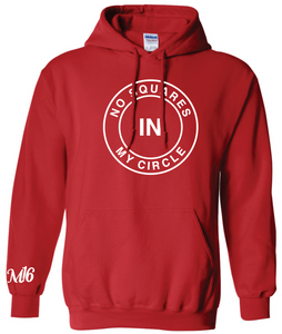 NO SQUARES- HOODIE - RED