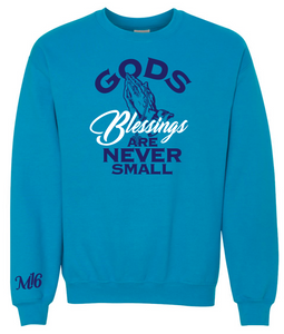 GODS BLESSINGS- CREW NECK SWEATER - SAPPHIRE