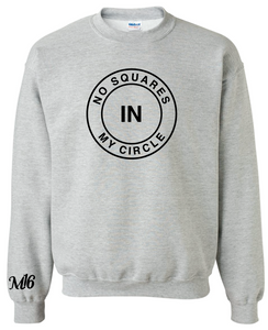 NO SQUARES- CREW NECK SWEATER - HTR GREY