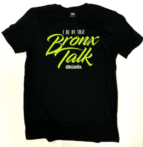 BRONX TALK - Short Sleeve Tee - BLACK