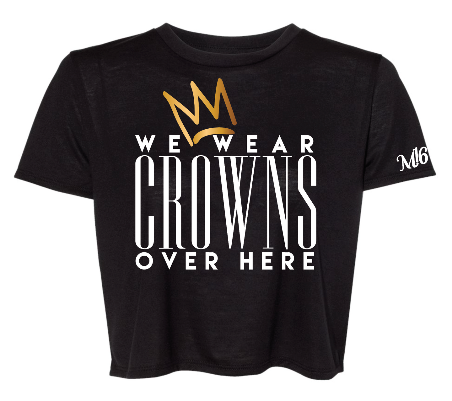 CROWNS - Crop Top - BLACK