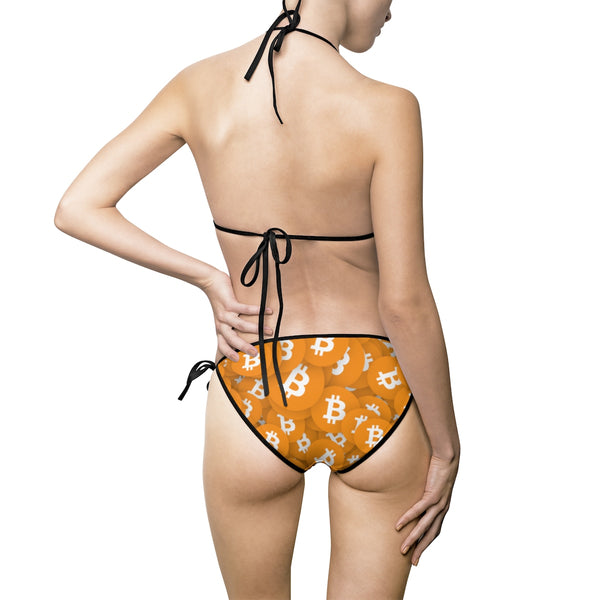 Bitcoin Patterned Bikini