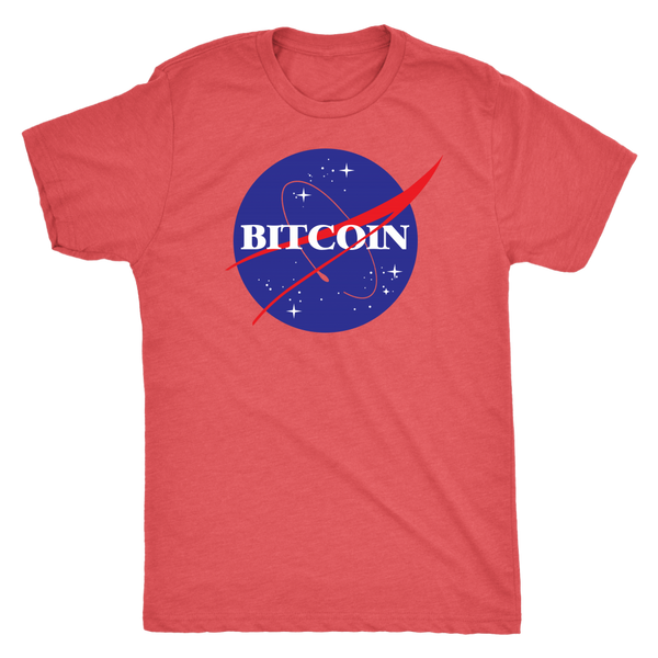 NASA Bitcoin Mens Tee on Polyester