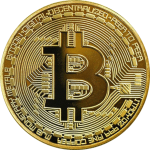 Gold Plated High Quality Bitcoin Coin