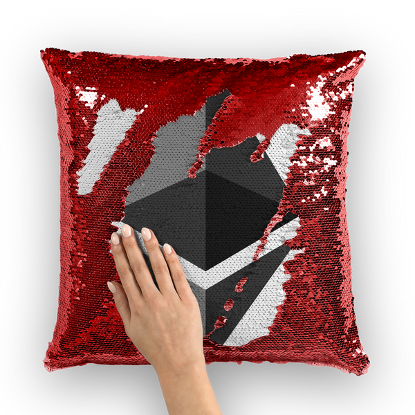 Ethereum Sequin Cushion Cover