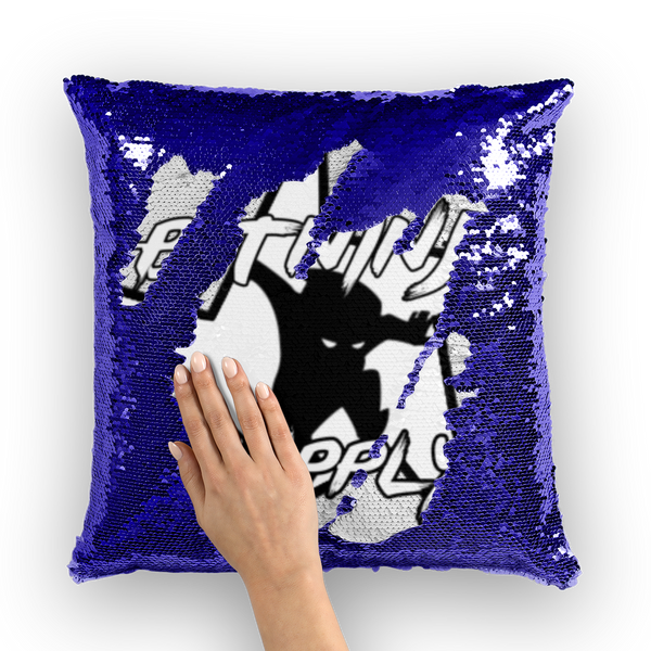 Bitninja Logo Sequin Cushion Cover