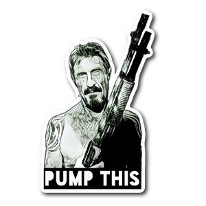 McAfee Pump This sticker