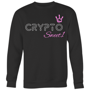 Crypto Sweet 1 Large Print Sweatshirt