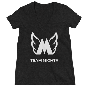 Team Mighty Women's Deep V-neck Tee