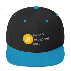 Bitcoin Accepted Here Snapback Hat