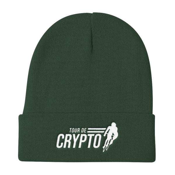 Tour De Crypto Knitted Beanie