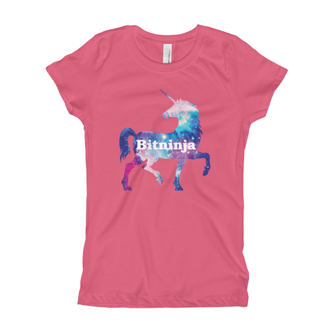 Bitninja Unicorn Girl's T-Shirt