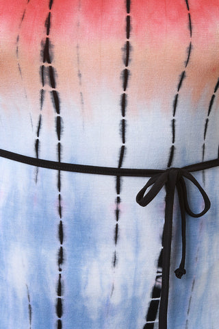 Jersey Knit Tie-Dye Strappy Maxi Dress