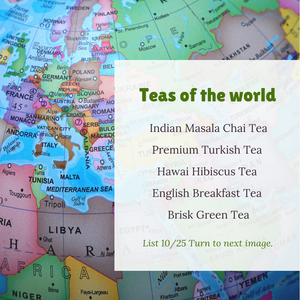 Teas of the World 15 Varieties in Recyclable Tin Box