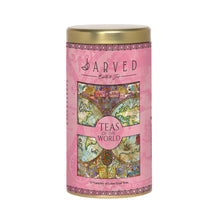 Jarved Teas and Coffee of The World Gift Set-15 Teas from 10+ countries | Columbian Arabica Instant Coffee | Set of 2 Tin Boxes | 150g Each