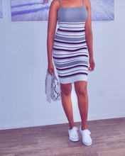 Stripped Sweater Dress - classvips.com