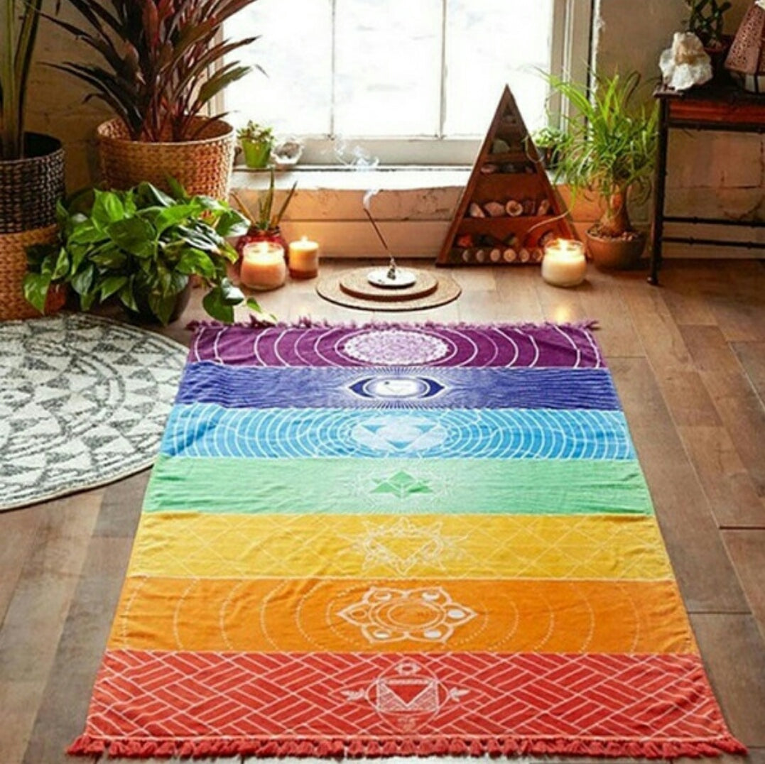 Rainbow Yoga Tapestry
