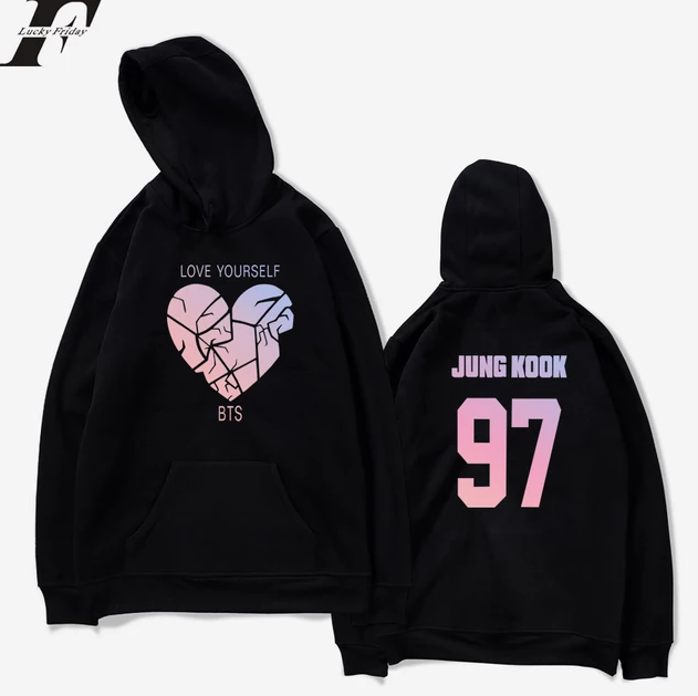 BTS LOVE YOURSELF Broken Heart Hoodie
