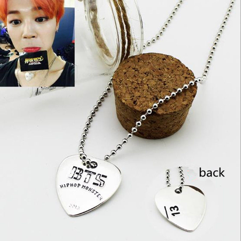 BTS Guitar Pick Necklace