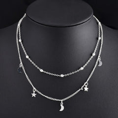 Woman Charm Moon Star Jewelry Pendant Choker/Necklace