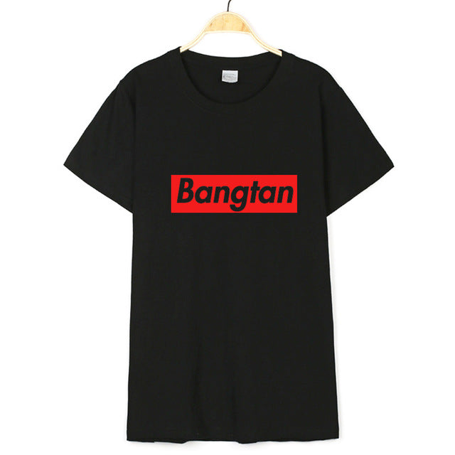 BTS T-Shirt White Cotton Supreme
