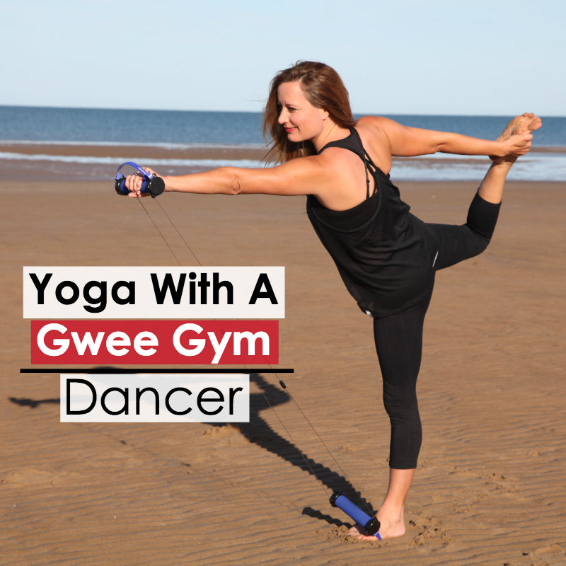 Dancer Pose Version 2: How To Incorporate Yoga into your Gwee Gym Workout